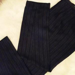 HARVE' BENARD: Bl /Wh pinstripe pants
